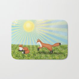 sunshine foxes Bath Mat