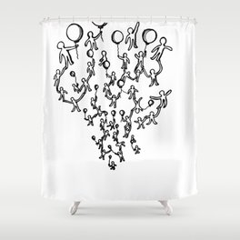 Balloon-ing Shower Curtain