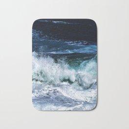 Dark Blue Waves Bath Mat