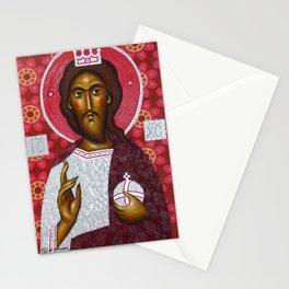 modern folk icon - Folk Christ1 Stationery Cards