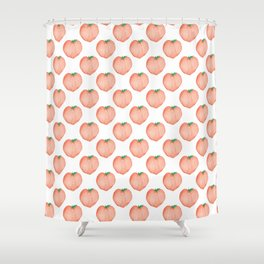 Watercolour Peach Shower Curtain
