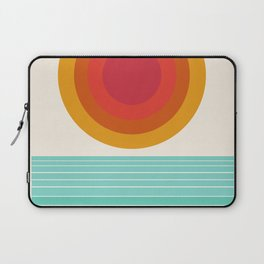 Totally Hot - 70s style retro throwback minimal sunshine beach socal cali 1970's Laptop Sleeve