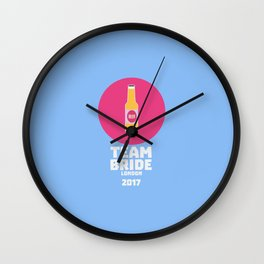 Team bride London 2017 Henparty T-Shirt D9ih7 Wall Clock