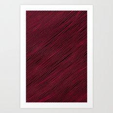 Stripes - Red Art Print
