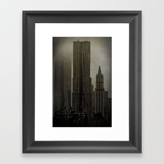 Concrete, Steel & Glass Framed Art Print