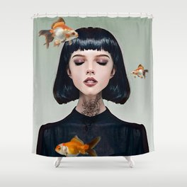 Goldfish Dreaming Shower Curtain