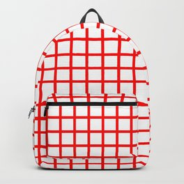 Grid (Classic Red & White Pattern) Backpack