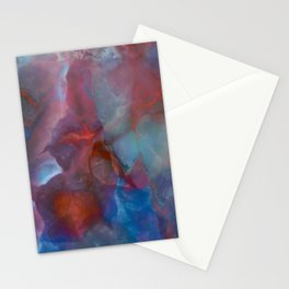 Colorful watercolor abstraction II Stationery Cards