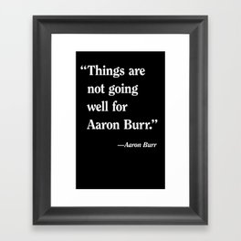 Aaron Burr Framed Art Print