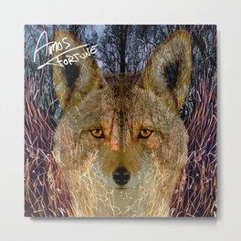 Long Night Coyote Metal Print
