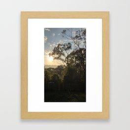 Early morning summer sunrise Framed Art Print