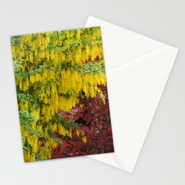 Warm comforting autumn trees Stationery Cards