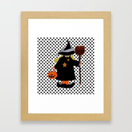 My Little Witch, Halloween Costume Framed Art Print