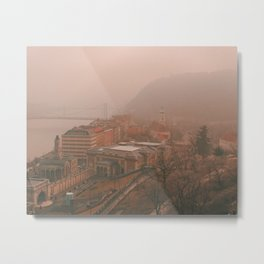 Budapest Fog Metal Print