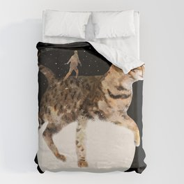 Moon Cat Duvet Cover