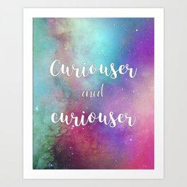 Curiouser in Wonderland Art Print