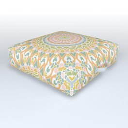 Meadow Mandala Outdoor Floor Cushion