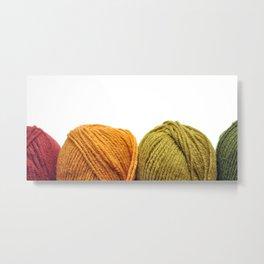 Four Skeins of Yarn in a Row Metal Print