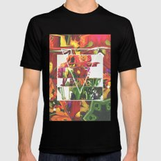 Fake Flowers X-LARGE Black Mens Fitted Tee