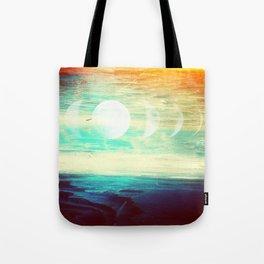 Lunar Phase Beach Tote Bag
