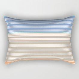 Cool Summer Stripes Rectangular Pillow
