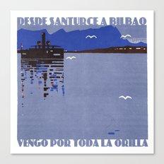 Desde Santurce a Bilbao Canvas Print