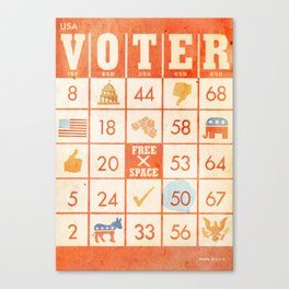 The Bingo Vote Canvas Print