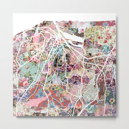 Honfleur map Metal Print