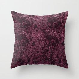 Deep Burgundy wine velvet Throw Pillow