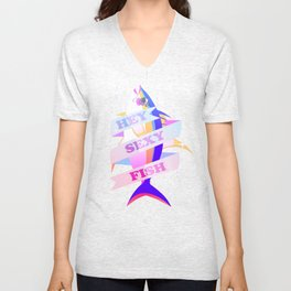 HEY SEXY FISH Unisex V-Neck