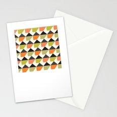 Orange & lime geometric pattern Stationery Cards