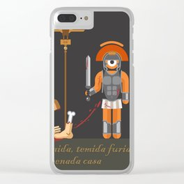 t.eye.tus andronicus Clear iPhone Case