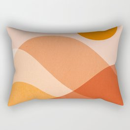 Abstraction_Mountains_Beach_Minimalism_001 Rectangular Pillow