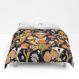 Floral New York fan Comforters