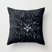 evil Throw Pillows featuring Evil by GLR67