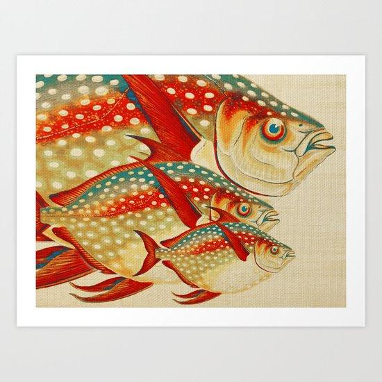 Fish Classic Designs 1 Art Print