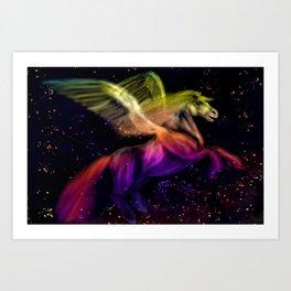 Cosmic Pegasus Art Print