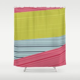 Bubblegum Pop Weave Shower Curtain