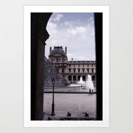 Peek Out the Louvre (Photo) Art Print
