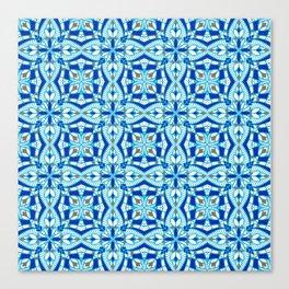 Mediterranean blue tiles Canvas Print