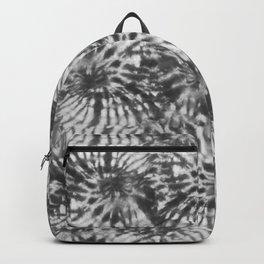 Black & White Tie Dye Swirls Backpack