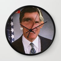 american psycho Wall Clocks featuring American Psycho - 5 by Marko Köppe