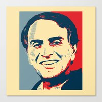carl sagan Canvas Prints featuring Carl Sagan 'Hope' by cvrcak