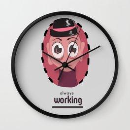Always Working kind of Guy Wall Clock