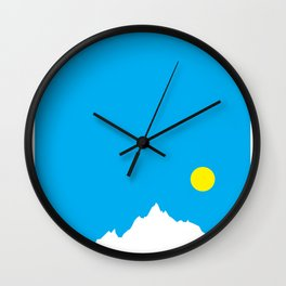 Mountain Sky Day Wall Clock