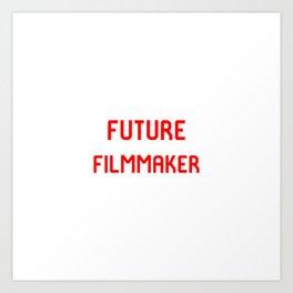 Future Filmmaker Red Film School Student Art Print