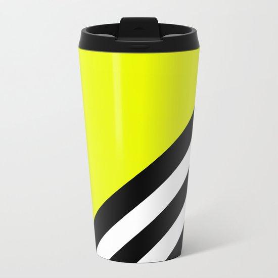 Sunshine Zebra Metal Travel Mug