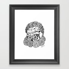 Katrina (white version) Framed Art Print