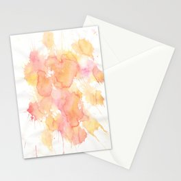 Pastel Watercolor Painting Stationery Cards