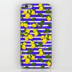 Pattern of lemons II iPhone & iPod Skin
